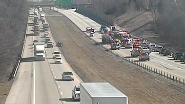 I-71 North back open after car went under semi, trapping one person