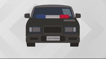 Local unmarked police cars may have out-of-state plates