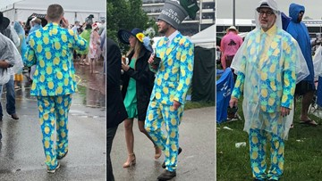Pineapple suit wins fashion game at Kentucky Derby