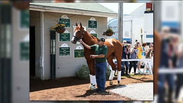 Undefeated Kentucky Derby, Preakness winner Justify returns to Churchill Downs