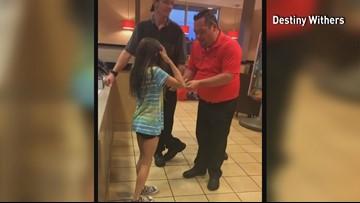 McDonald's employees help little girl reach Crusade goal