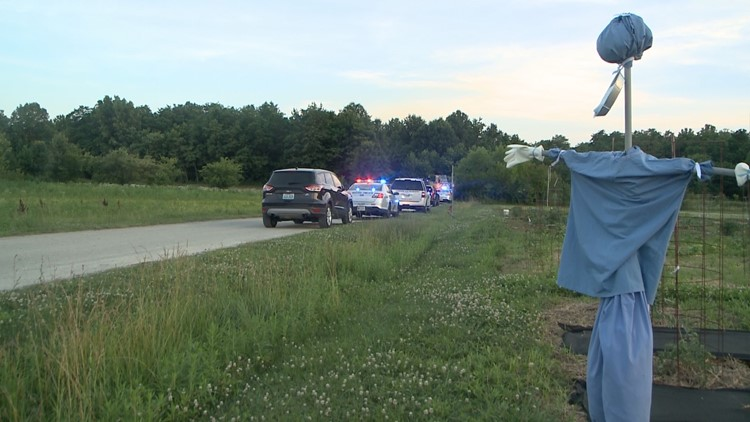 According to police two people riding motorcycles found the body of a man at the end of a gravel road at the property of the Farnsley Moreman Landing a public attraction owned by the city.
