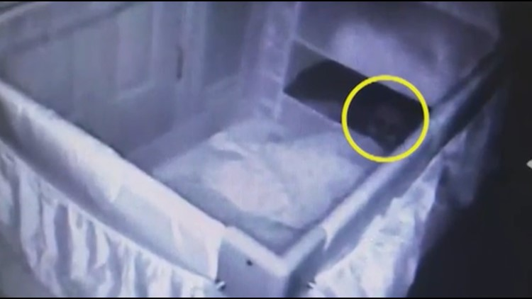 """Melissa Smith, a mother of two, is convinced she's captured footage of a """"ghostly face"""" on her crib cam following a number of creepy occurrences, according to Caters."""