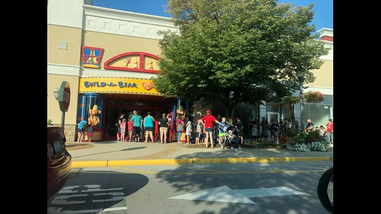 Build-A-Bear stores have had to cut off the lines for their 'pay your age' event because of safety concerns.