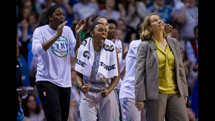 Montgomery had 25 points in the second half, hitting seven 3-pointers to break the WNBA record for a half - one more than Taurasi, Sue Bird and Sami Whitcomb.