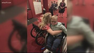 6-year-old boy meets Tony Award winner Ali Stroker