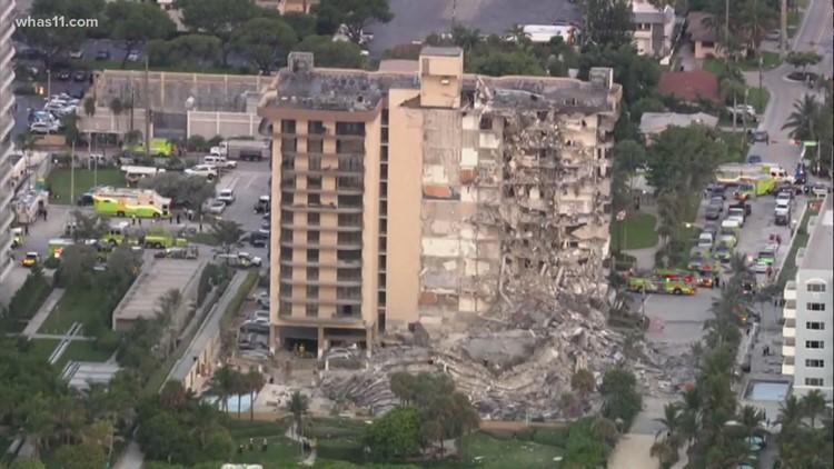 Video shows Miami-area condo collapse