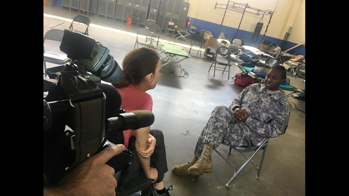 Army National Guard lands in NC to help those affected by Florence