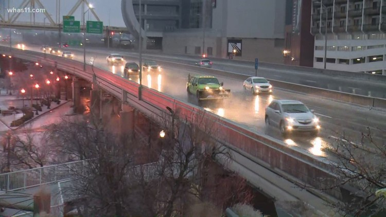 Slick conditions causing crashes in Louisville
