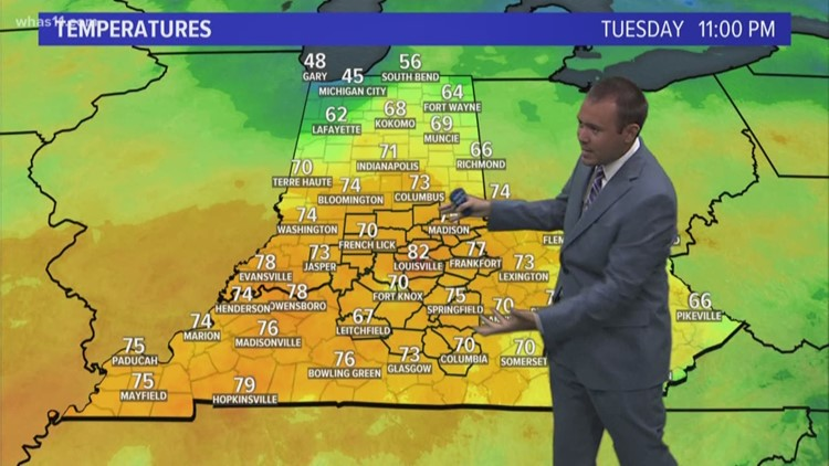 Tuesday Weather Map.11pm Weather Forecast Tuesday May 15th 2018 Whas11 Com
