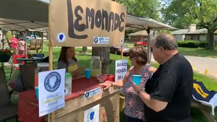Local girls raise money for WHAS Crusade for Children with lemonade stand