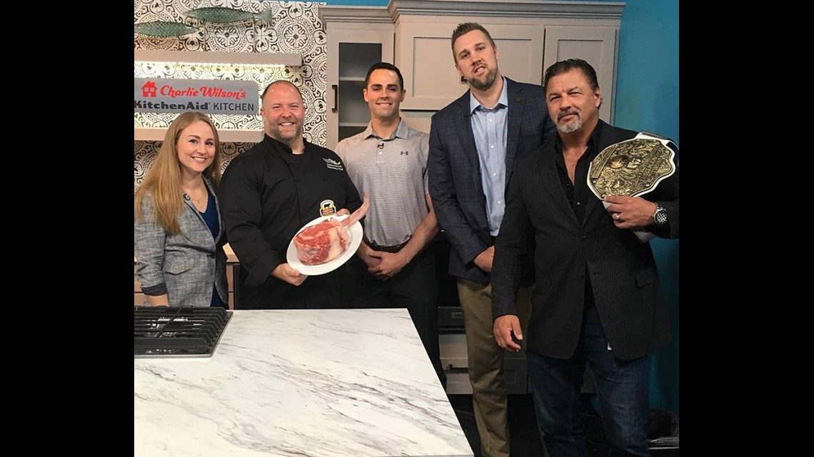 Athletes compete to eat 96 oz steak for Kids Cancer Alliance