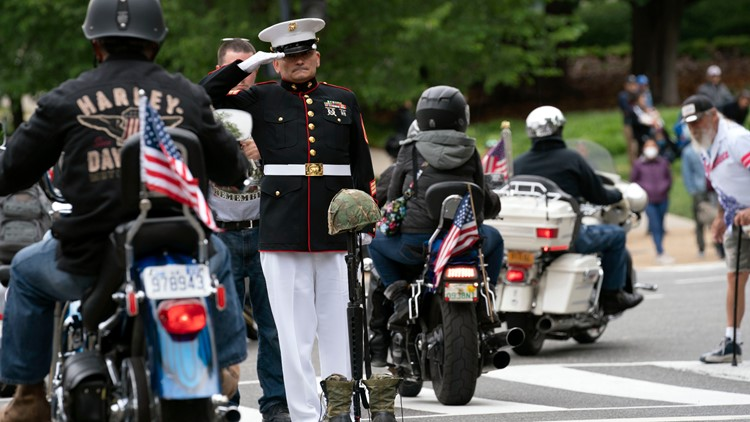 'You can get through this' | Thousands rally through DC to raise awareness for veterans' issues