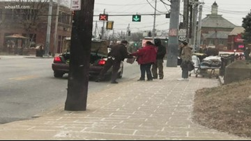 Jefferson County Sheriff's deputy drops off blankets for homeless in the Highlands