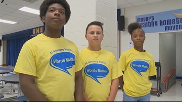 """'Words Matter"""": Middle school students spread message of kindness"""