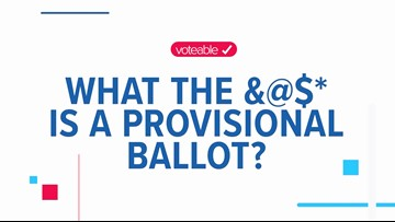 What is a provisional ballot?