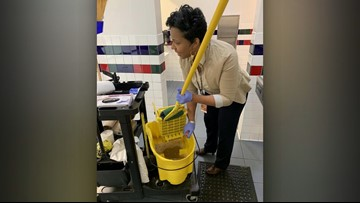 Dallas principal steps up to clean school during custodian's emergency