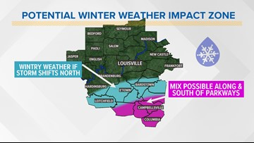 Wintry weather potential this weekend