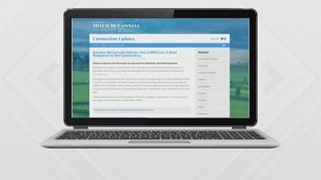 McConnell creates coronavirus portal on his website