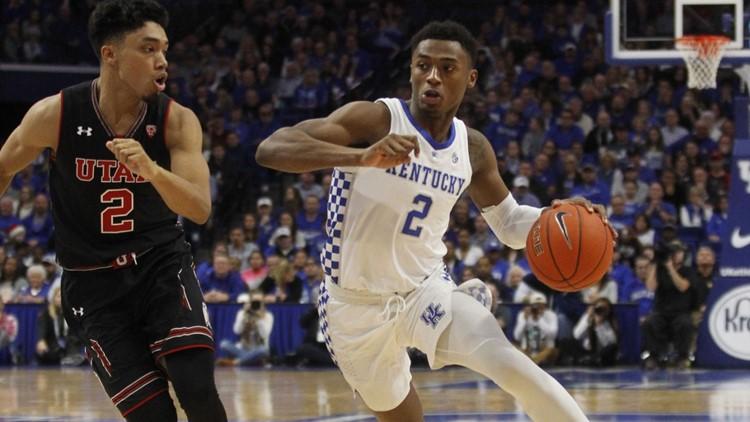 Johnson scores 24 points to lead No. 19 Kentucky past Utah
