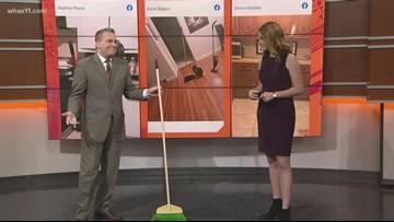 T.G. talks broom challenge