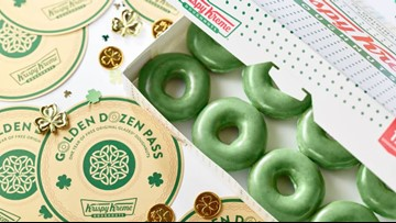 Order these green doughnuts for a shot at winning free Krispy Kreme for a year