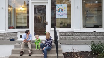 Neighbors feel sense of normalcy with 'Front Porch Fridays'