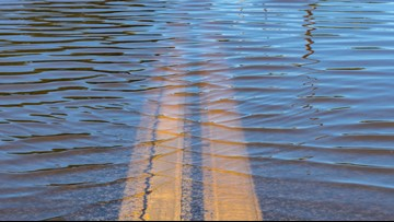 Multiple Louisville roads closed due to high water