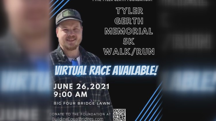 Louisville community to honor Tyler Gerth on one-year anniversary of death with inaugural 5K walk, run