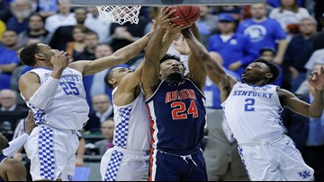 Auburn tops Kentucky 77-71 in OT for first Final Four trip