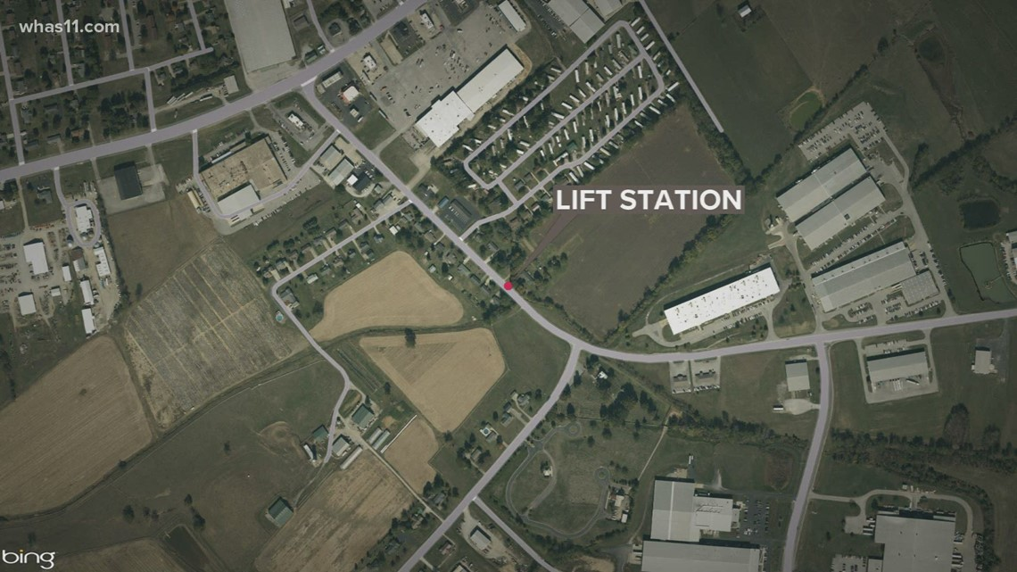 Lebanon Fire Department rescue two workers trapped in sewage lift station