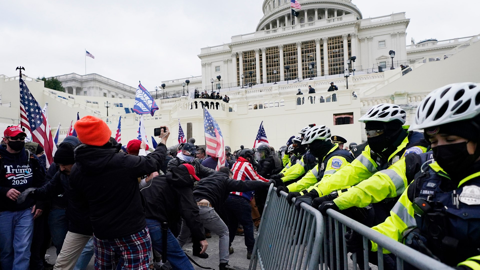 Trump tells supporters to go home after they clash with police, storm US  Capitol | whas11.com