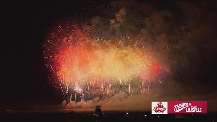Thunder Over Louisville 2021 fireworks finale
