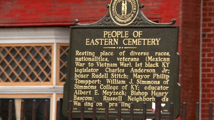 People of Eastern Cemetery sign