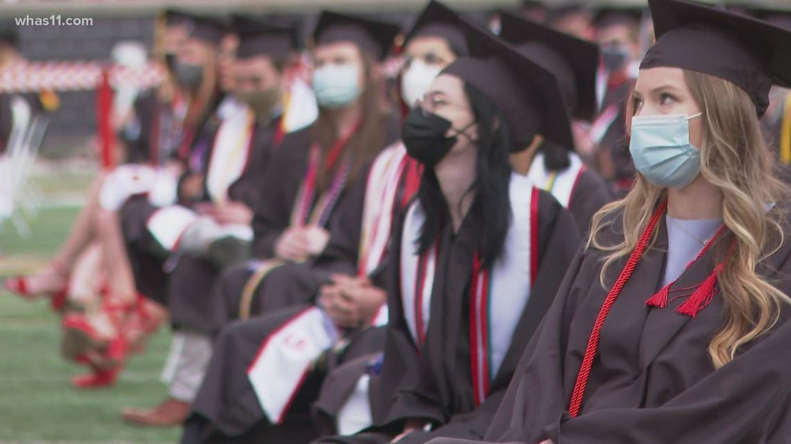University of Louisville holds outdoor graduation ceremony