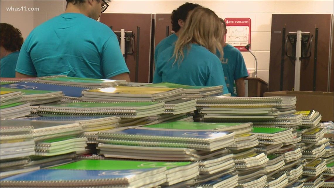 Free backpacks filled with school supplies for students in the Louisville area