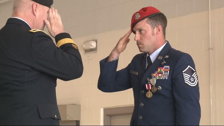 Kentucky Air Guardsman receives medal for heroism