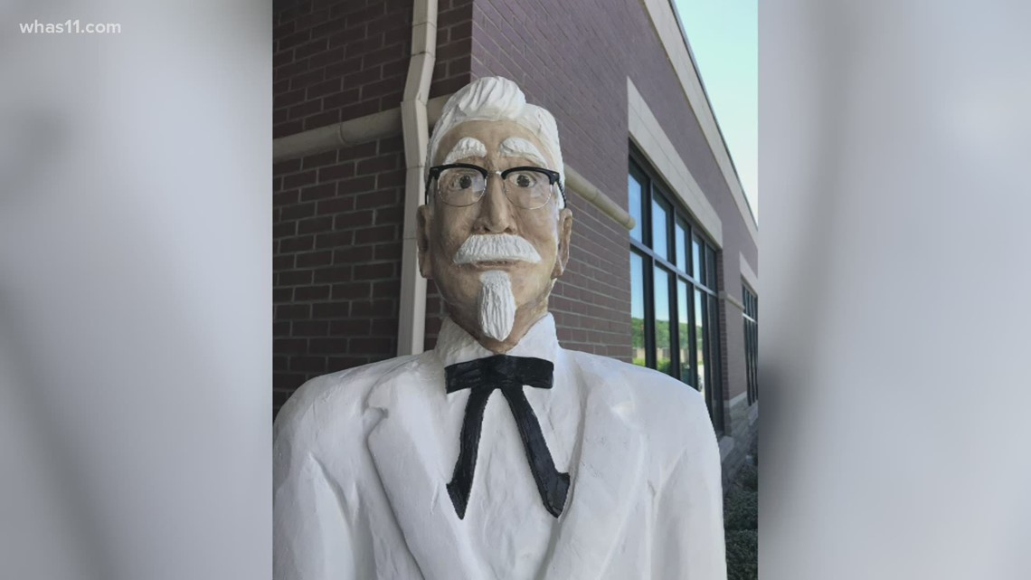Kentucky city unveils wood-carved statue of Colonel Sanders