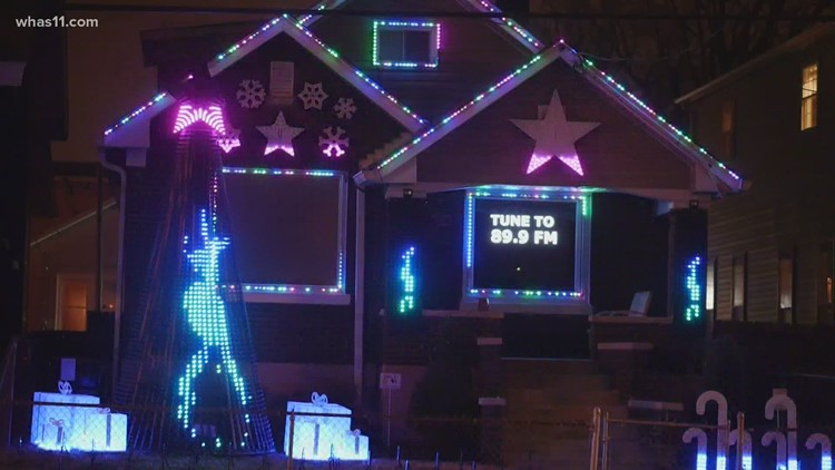 Shelby Park man brings holiday spirit to neighborhood with 5,000 lights
