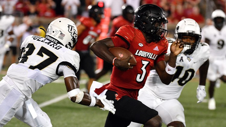 Late interception return for TD lifts Louisville past UCF