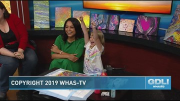 7-year-old artist wows with her unique paintings