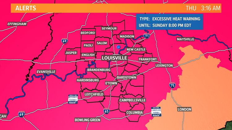 A heat wave is headed to Kentuckiana into the upcoming weekend
