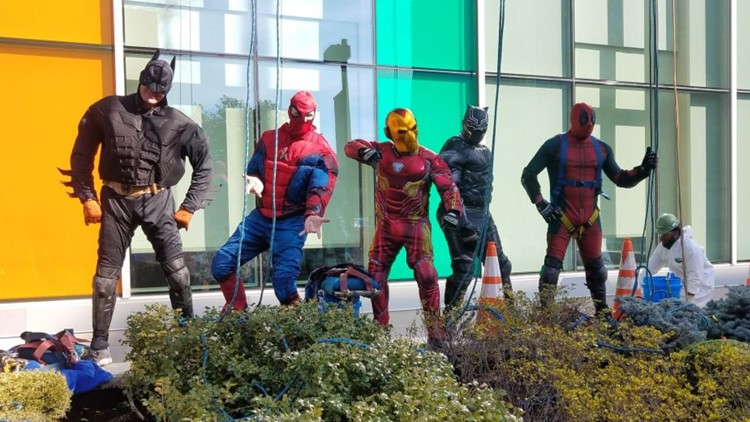 superheroes at norton children's hospital