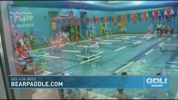 Little ones make a big splash at Bear Paddle Swim School