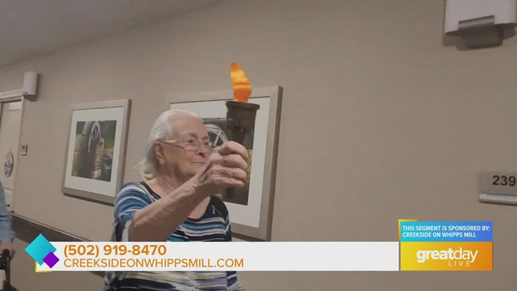 Seniors celebrate Olympics at Creekside on Whipps Mill