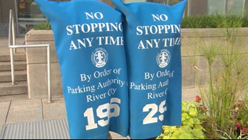 Why are so many parking meters blocked off downtown? Is the city losing money because of them?
