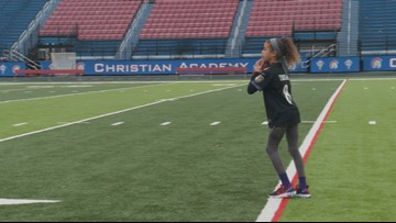 'Girls can do the same thing as boys.' 9-year-old Louisville girl's speed gets her a spot in the NFL's 'Next 100' Super Bowl ad