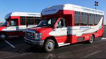 Express shuttle parking lot opens at Louisville Muhammad Ali International Airport