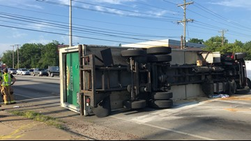 Preston Highway reopens at Outer Loop after semi crash