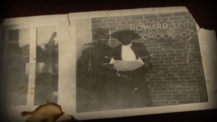 A photo of Alberta Jones as she attended and graduated from Howard University's School of Law